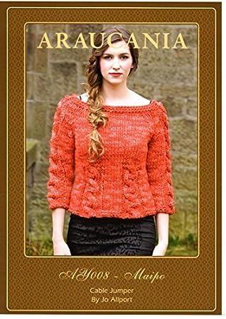 Araucania Strick Muster - Maipo DK Garn, Damen Zopfmuster Pullover ...