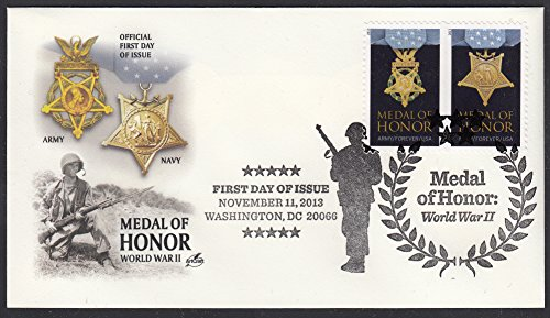 Day Collecting Stamp Covers First (Medal of Honor: WWII Collectible ArtCraft First Day Cover Stamp Cachet FDC Scott 4822-23)