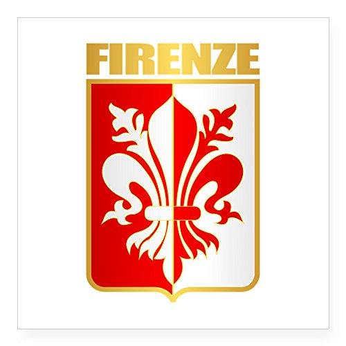 (CafePress Firenze Sticker Square Bumper Sticker Car Decal, 3