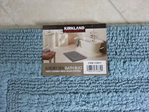 Kirkland Signature Luxury Spa Bath Rug Light Bule 24 In X 36 In