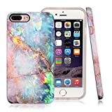 Nasousa iPhone 7 plus Marlbe case , 8 Case for Girls IMD Printing Slim-Fit Ultra-Thin Anti-Scratch Shock Proof Dust Proof Anti-Finger Print TPU Case for iPhone 7 8 plus(5.5 inch)(Colorful Marble)