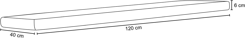 Design Edera Angerer Cuscino per Panca 40 x 120 cm Senza Panca