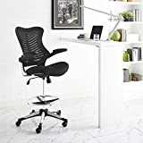 Best Drafting Chairs - Modway Charge Drafting Stool In Black - Reception Review
