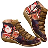 haoricu Casual Shoes Womens Ankle Boots Round Toe