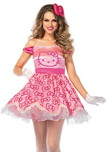 Leg Avenue Women's 2PC.Pretty Hello Kitty, Pink, Small -