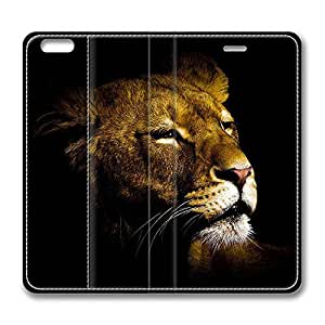 Brain114 4s, iPhone 4s Case, iPhone 4s Case, Lion 24s PU Leather Flip Protective Skin Case for Apple iPhone 4s