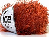Copper Eyelash Yarn 50 Gram Ice 22758