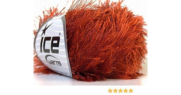 Copper Eyelash Yarn 50 Gram Ice 22758