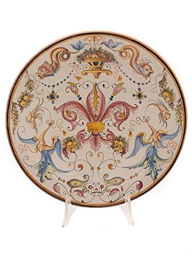 Ceramiche a Montughi - Florentine lily ceramic plate