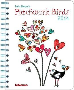 2014 Tula Moon's Patchwork Birds Deluxe Diary   B00BBIKPGO