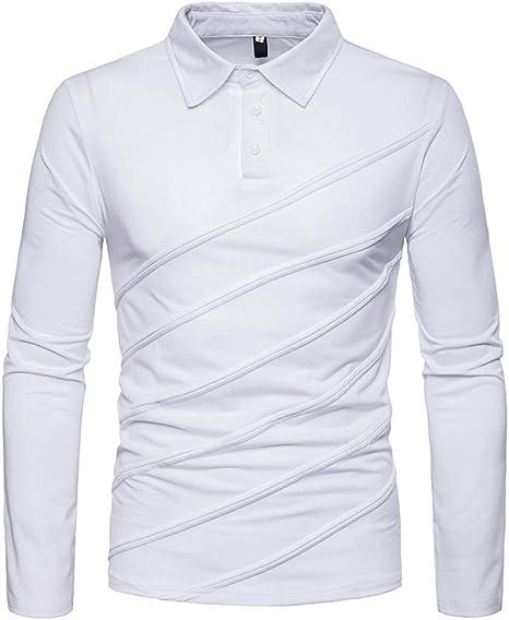 LuckyGirls Camisetas Oblicua Rayas Camisa Casual Poleras Polo Moda ...
