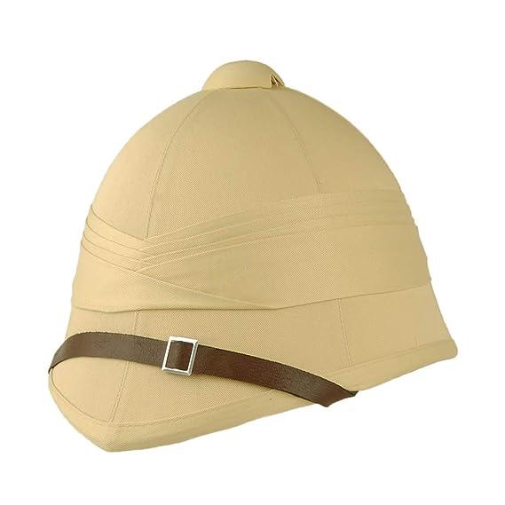 cheap for discount fd8e4 c907f Village Hats British Pith Helmet - Khaki Small Medium