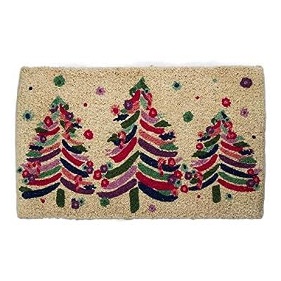 tag Bright Trees Coir Doormat Mat 30 x 18 Natural & Multi