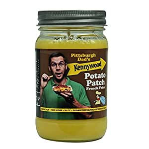 Pittsburgh Dad Kennywood Park Potato Patch Scented Soy Wax 16oz Candle. From Makers of the Hills Candle ~ 100% Yinzer Made in USA Gift- Sugar Creek Candles