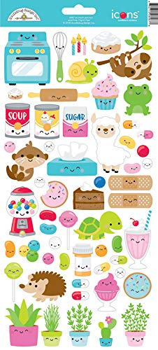 Doodlebug ST6066 Cardstock Stickers, So So Much Pun Too Icons