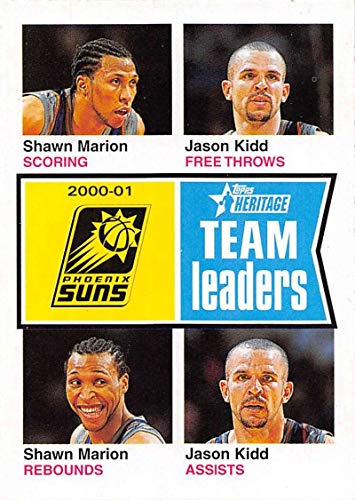 2001-02 Topps Heritage Basketball #224 Shawn Marion/Jason Kidd New Jersey Nets Official NBA Trading Card