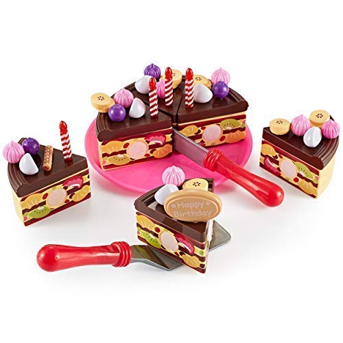Think Gizmos Play Party Cake TG713 - Party Cake Play Set for Kids Aged 3 4 5 6 by Think Gizmos (Image #3)