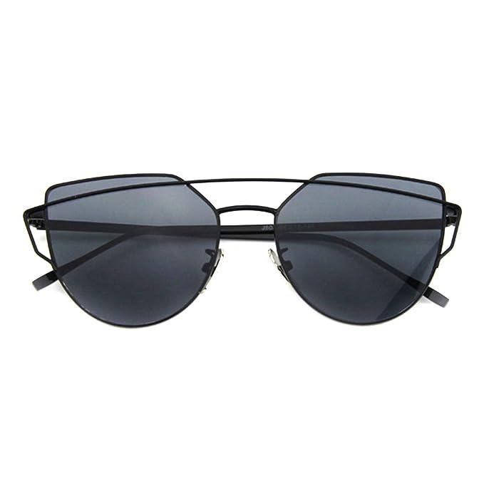 Smileyes Damen Fashion Sonnenbrillen UV400 Retro Vintage Style Unisex #TSGL009 (Schwarz) phhyQP5