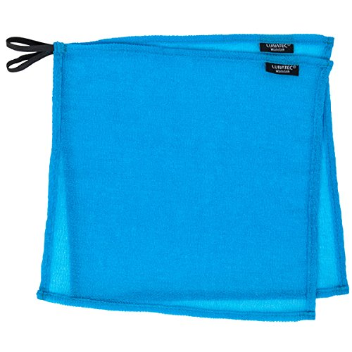 - Lunatec Self-Cleaning Travel Washcloth. Odor-Free, Quick Drying &Light Exfoliation. Wash Cloth is Ideal for Camping, Backpacking, bathrooms, Gym, RVs and Boating. Compliments Any Travel Towel.