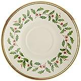 Lenox Holiday Saucer,Ivory and Platinum