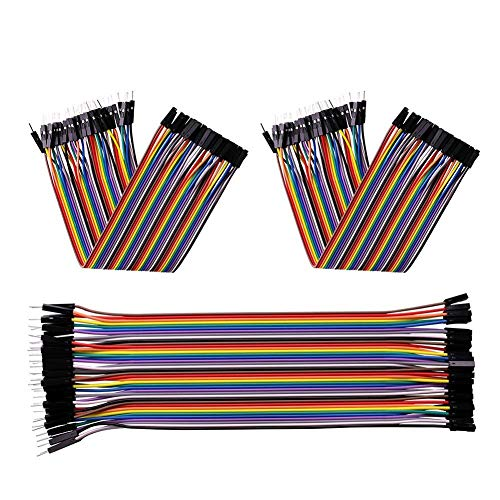 120pcs 20cm Dupont Wire Ribbon Cable 40pin Male to Female 40pin Male to Male 40pin Female to Female Breadboard Jumper Wires for arduino