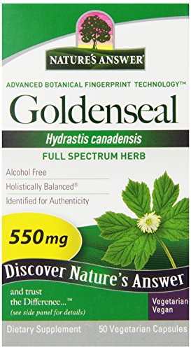 - Nature's Answer Goldenseal Root Vegetarian Capsules, 50-Count