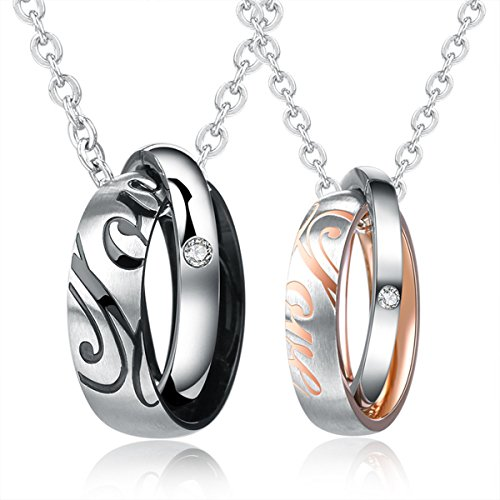 MENGDA Stainless Couple Pendant Necklace