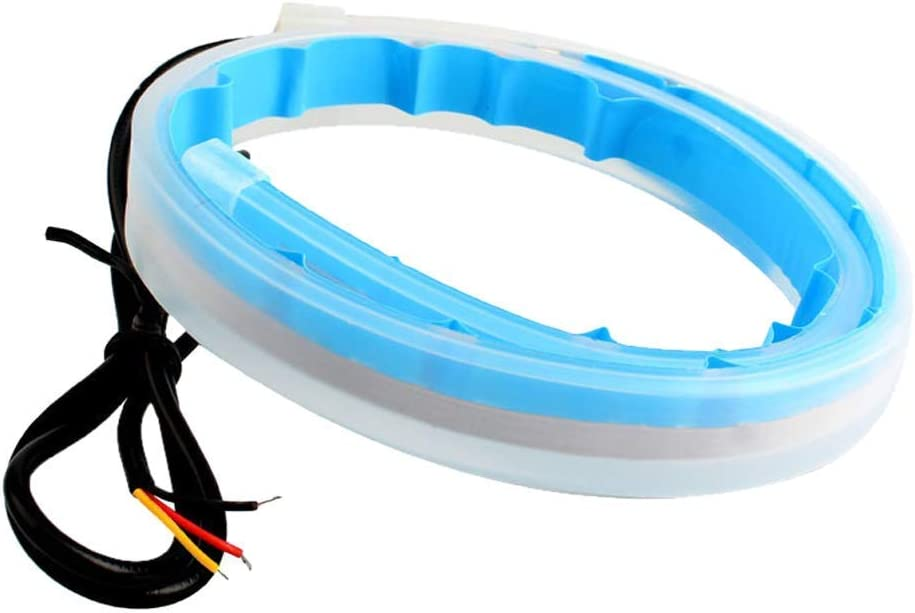 HDL 2pcs Feux de Jour 30//45//60cm Bandes Feux Diurnes Flexibles 300 LEDs Feux Diurnes Tricolore /Étanches IP65 Silicone Tube Lumineuse LED pour Phares de Voiture Feux Arri/ère Clignotant