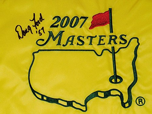 Doug Ford Autographed Masters Golf Flag (1957 Winner) - W/Coa! - Autographed Golf Pin Flags