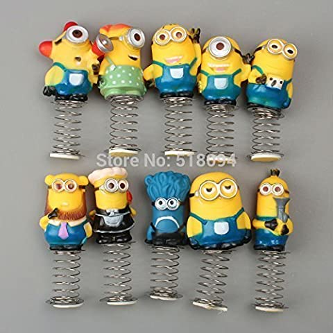 Anime Cartoon Despicable Me Minions PVC Figure Toys Dolls Spring Toys 10pcs/set Christmas Gifts Child - Pokemon Attack Action Bases