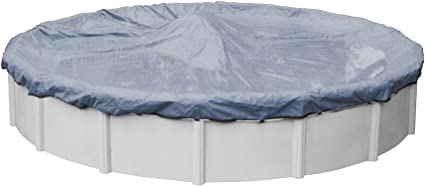 Amazon Com Pool Mate 3433 4 Pm Commercial Grade Winter Round Above Ground Pool Cover 33 Ft Slate Blue Garden Outdoor