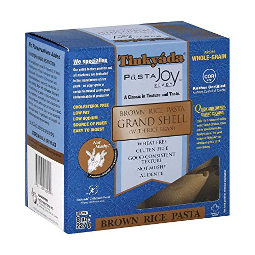 Tinkyada Grand Shell Brown Rice Pasta, 8 Ounce - 12 per ()