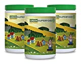 Green tea extract with hoodia - GREENS SUPERFOOD POWDER WITH NATURAL PINEAPPLE FLAVOR 300G - improve digestion (3 Bottles)
