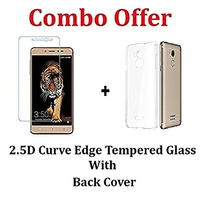 detailed look 92bae f034d Coolpad Note 5 Lite Tempered Glass + Back Cover [Combo Pack]