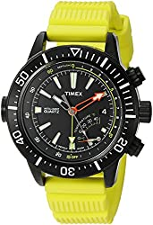 Timex Men's T2N958 Intelligent Quartz Adventure Series Depth Gauge Yellow Resin Strap Watch