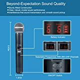 Wireless Microphone System, Phenyx Pro Quad Channel Cordless Mic Set with Metal Handheld Mics, 4x200 Channels, Auto Scan, Long Distance 328ft, Ideal for DJ, Church, Outdoor Events