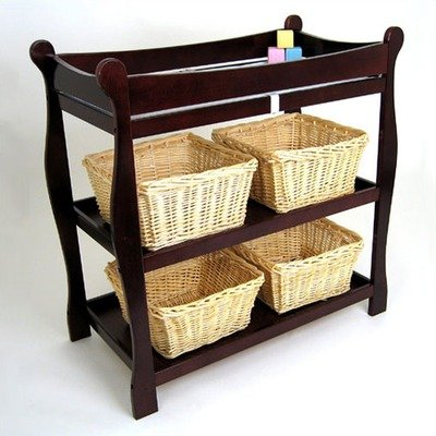 (Cherry Sleigh Style Changing Table)