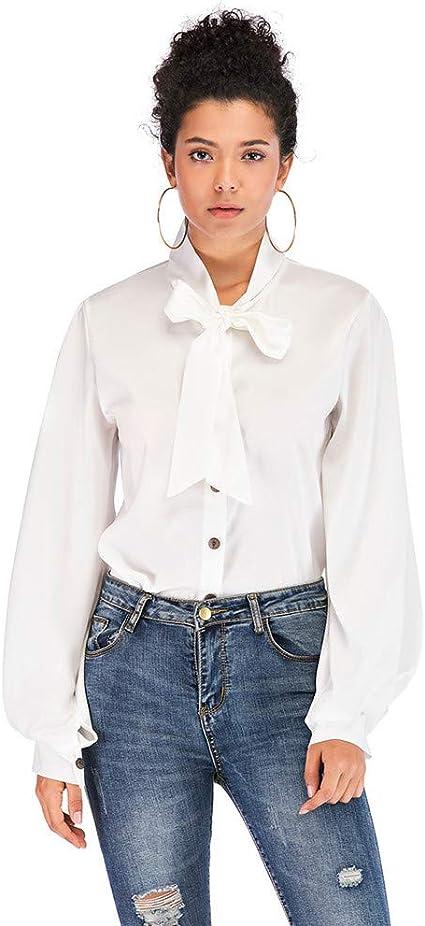 Camisa De Mujer, Jessboy Camisa Con Lazo De Mujer Blusa De ...