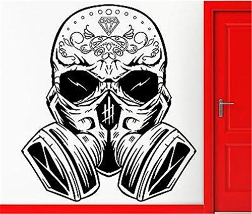 Fuance Vinyl Wall Lettering Stickers Quotes and Saying Hippie Skull in Gas Mask Scary Cool Teen