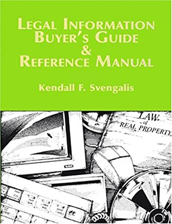 legal information buyers guide and reference manual amazon com rh amazon com buy manual typewriter buyers manchester