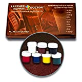vinyl chair repair kit - Leather Repair Doctor Complete DIY Kit | Premixed ALL-IN-ONE Professional Restoration Solution | Match ANY Color, No-Heat Fast Drying | Sofa, Couch Chairs, Car Seats, Jacket, Boots, Belts, Purses