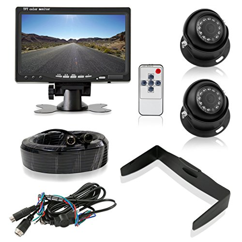 Pyle Backup Camera System with 2 Weatherproof Cams & 7