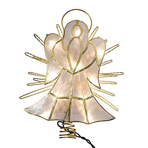 Kurt Adler 10-Inch Capiz Angel with Twisted Wire Treetop by Kurt Adler (Image #1)