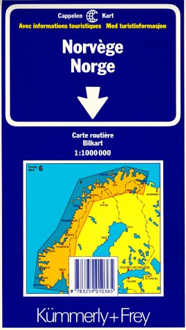 Kümmerly & Frey Karten, Norwegen (International Road Map) (Englisch) Landkarte – Folded Map, 2001 Collectif Hallwag Kümmerly & Frey 325901036X MAK_new_usd__9783259010365