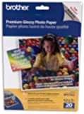 Brother 8 1/2 x 11 Inch High Gloss Inkjet Paper 20 sheets (BP61GLL) - Retail Packaging
