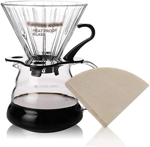 FYHKF Cafeteras de Goteo Pour Over Coffee Maker Brewer Set ...