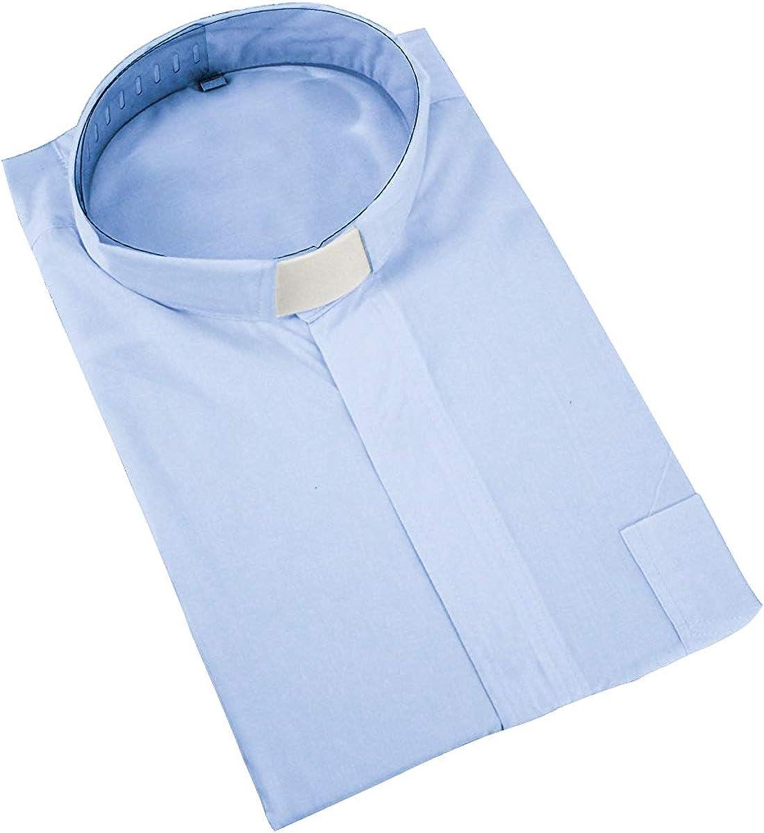 GraduatePro Camisa de Manga Larga Hombres Clero Sacerdote Color Sólido: Amazon.es: Ropa y accesorios