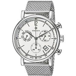 Swiza Men's WAT.0153.1002 Alza Analog Display Swiss Quartz Silver Watch