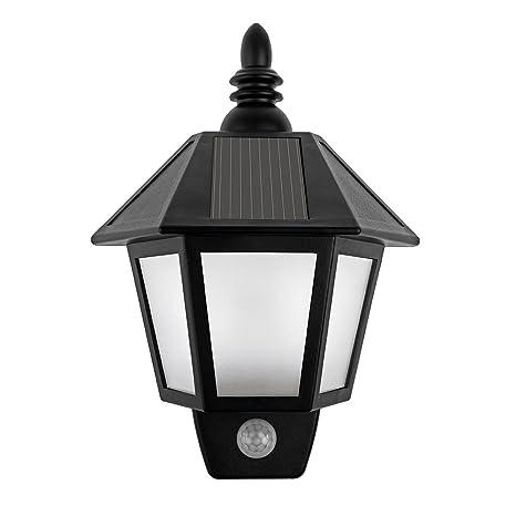 LED Solar farol de pared para exterior (luz, powstro resistente al agua Jardín Lámpara
