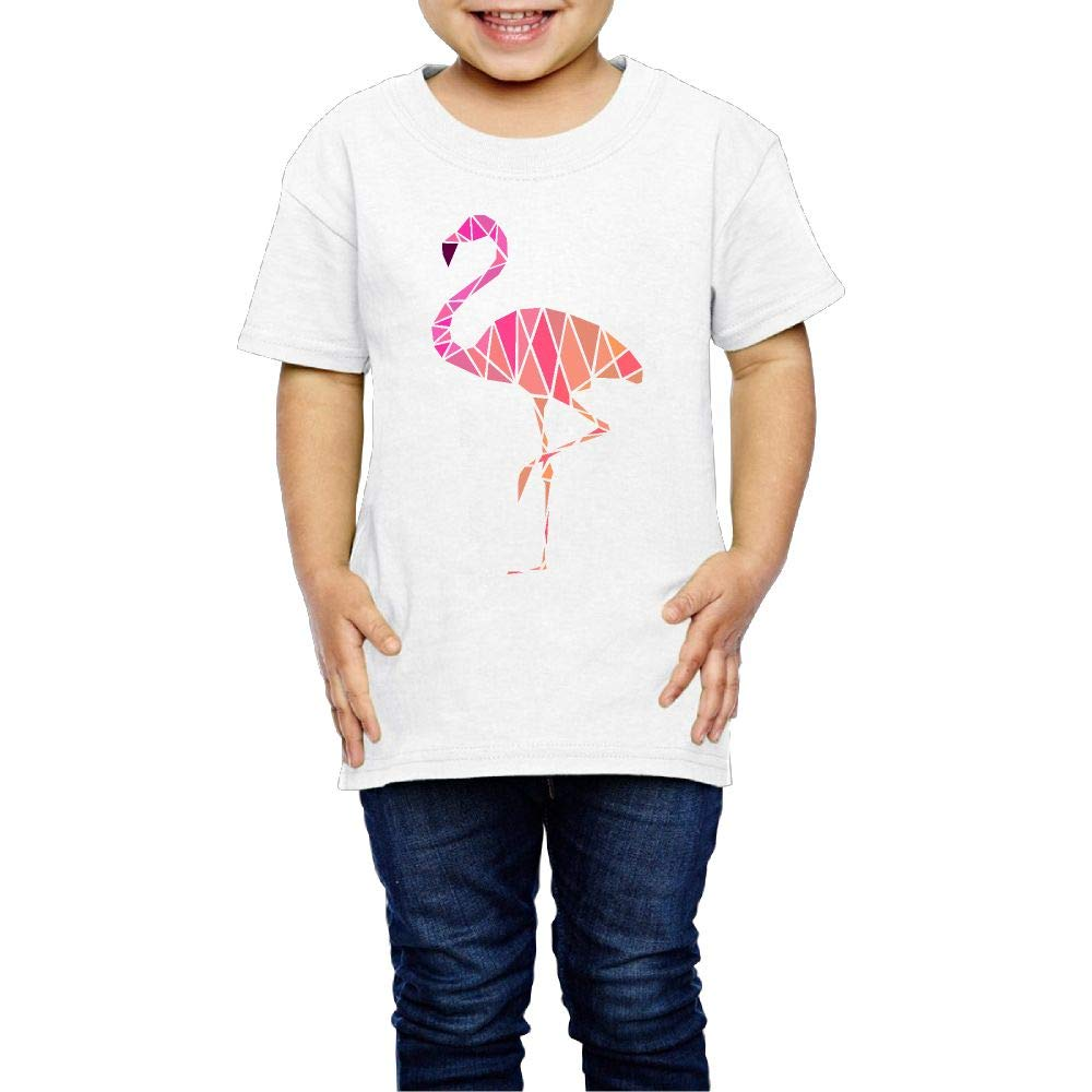 Geometric Flamingo 2-6 Years Old Children Short Sleeve Tee Shirts